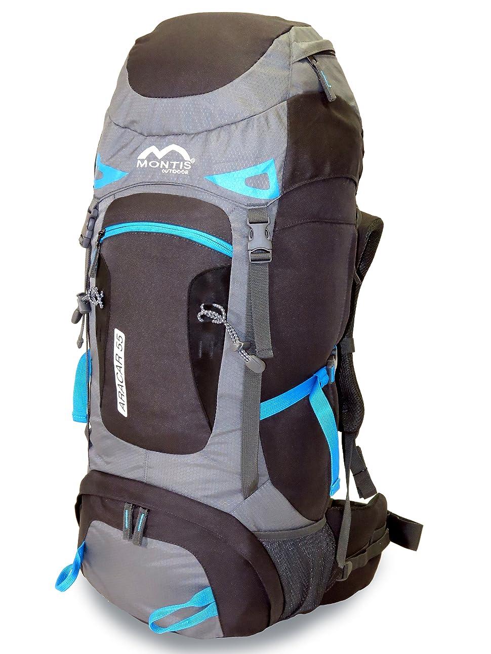 MONTIS ARACAR 55 - Mochila de trekking y senderismo - 55 l - 70 x 32 - 1500 g
