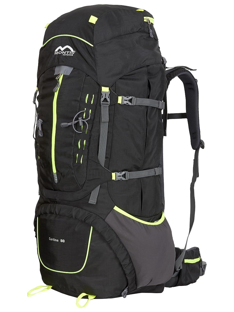 Montis Cortina 80 - Mochila de trekking y senderismo - 80++ l - 88 x 38 - 2100 g