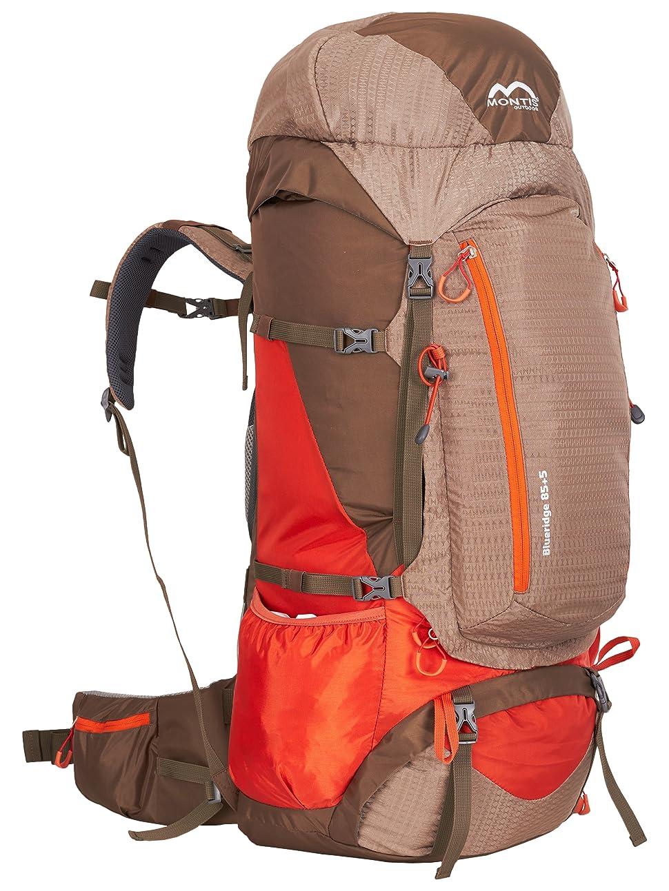 MONTIS BLUERIDGE 85+5 - Mochila de trekking y senderismo - 90+ l - 91 x 42 - 1950 g