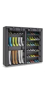 ZapatosZapatero Tela Shoes Udear Organizador De 7 Rack Pisos vm8n0Nw