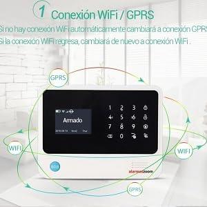 KIT ALARMA WiFi G90B Plus negra con APP WIFI GSM GPRS ...