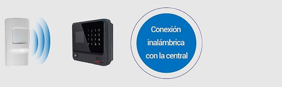 Detector de movimiento alarma Inalambrico EV1527 Bateria ...