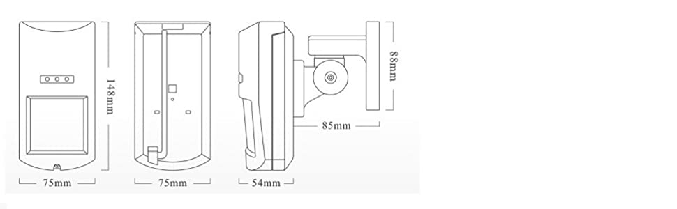 Instala el detector sin cables en exterior