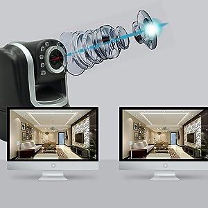 Camara IP WiFi Full HD 1080p Entrada Salida Alarma P2P App ONVIF. Seguridad hogares, Oficina con visión remota a través de teléfono móvil con App Gratis fácil instalacion NeoCoolCam NIP 16SY: Amazon.es: