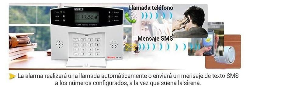 Alarma Hogar AZ028 gsm Castellano sin cuotas para casa. Facil instalación. Asistencia telefónica en Castellano. App Control Remoto SMS. Facil ...