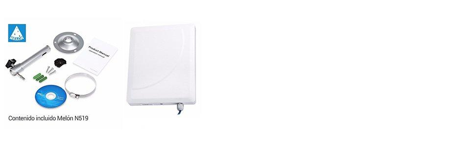 MELON WIFI Antena Exterior Plantar USB exterio N519. Chipset ...
