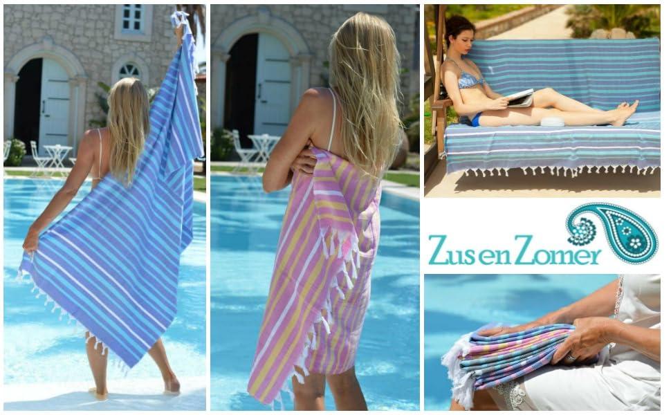 Fouta toalla hammam IBIZA XL | Extremadamente suave y en colores vistosos!