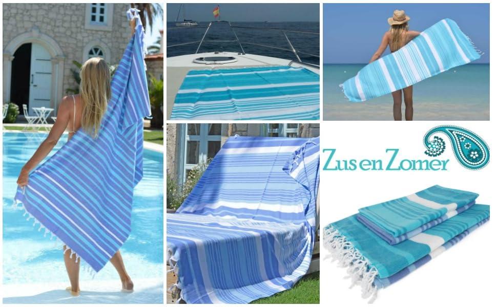 Fouta toalla hammam MELODI XXL | Un diseño encantador de ZusenZomer de colores vistosos!
