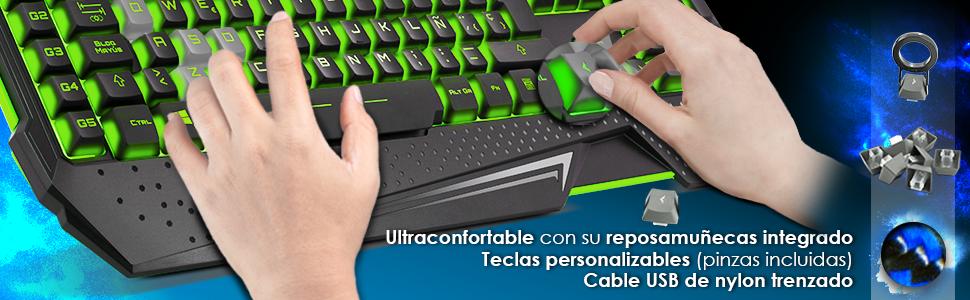 EMPIRE GAMING - Pack Hellhounds Teclado Ratón y Alfombrilla Gamer ...