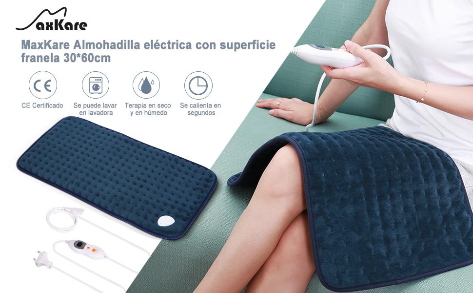 Almohadilla Elèctrica de Calefacción MaxKare Función de Apagado ...