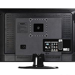 Soporte de Pared para TV 20-60 Pulgadas(50-152cm), Inclinable y Giratorio, Máx Vesa 400x400mm, Carga 70KG, para Televisores de Pantalla Plana LED LCD Plasma 4K 3D, con HDMI Cable y Nivel de Burbujas: