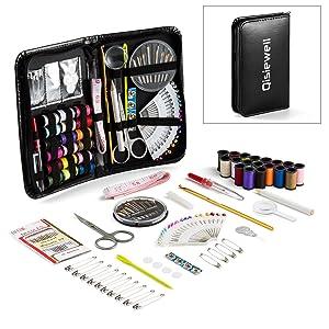 Qisiewell Kit de Costura 116 Piezas Costurero con Accesorios Kit ...
