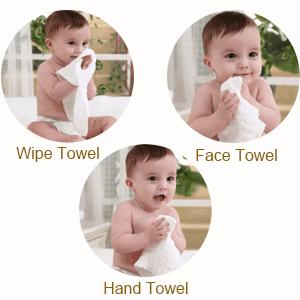 Su tamaño es muy adecuado para la toalla de cara del bebé, toallita limpiadora para bebés, toalla de baño para bebés. Toalla de belleza de mamá, ...