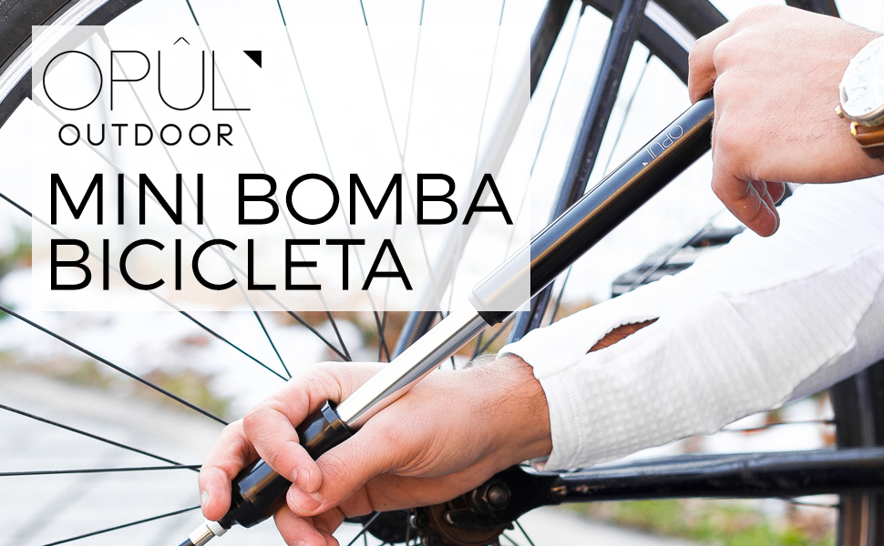 OPUL Mini Bomba Bicicleta, Bomba de Bici para Neumáticos, Ligera ...