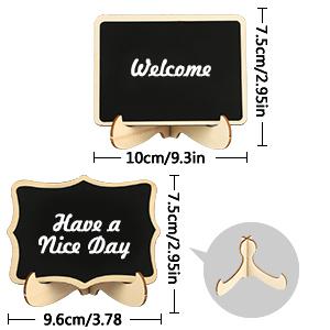 Mini pizarra, RATEL 20 Pack pizarra pequeña de madera,Rectángulo pequeño lugar tarjetas con soporte de caballete,Los carteles decorativos para alimentos colocan tarjetas para bodas, fiestas, buffet: Amazon.es: Oficina y papelería