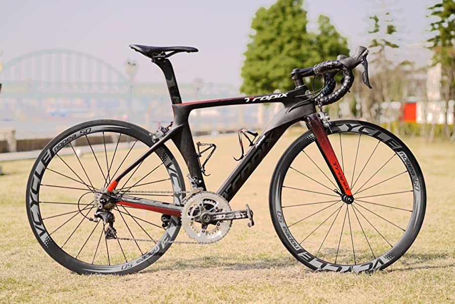 VCYCLE Nopea 700C Carbono Bicicleta Ruedas 50mm Tubular 23mm Ancho ...