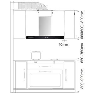 CIARRA CBCS9102 Campana Extractora 90cm 550m³/h 100W - Control Táctil - 3 Velocidades - Evacuación al Exterior y Recirculación Interna por Filtro de Carbón CBCF003 - Acero Inoxidable Plata: Amazon.es: Grandes electrodomésticos