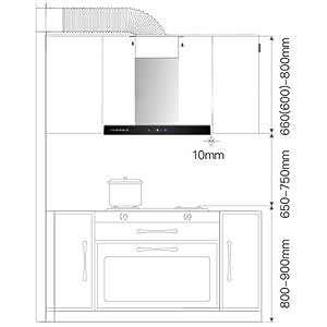 CIARRA CBCS6102 Campanas Extractora 60cm 550 m³/h 100W - Control Táctil - 3 Velocidades - Evacuación al Exterior y Recirculación Interna por Filtro de Carbón CBCF003 - Acero Inoxidable Plata: Amazon.es: Grandes electrodomésticos