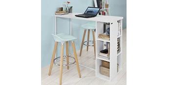SoBuy Mesa de Escritorio Alta, Mesa de Ordenador con 3 Estantes ...