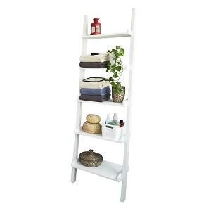 SoBuy Moderna Estantería Escalera con Cinco Estantes en Color Blanco,FRG17-W,ES: Amazon.es: Hogar