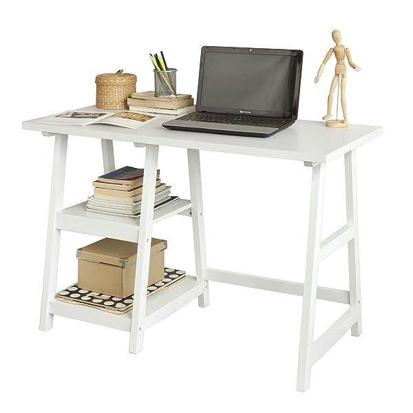 Sobuy mesa de escritorio mesa de ordenador con 2 for Mesa ordenador amazon