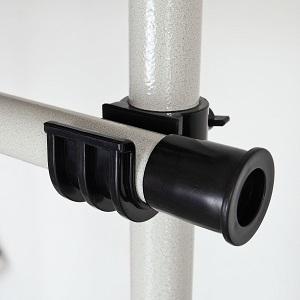 SoBuy® Sistema de Perchero Extensible,Perchero telescópico,L(1600-1950mm) XA(1030-2780mm), Metal y plástico, Color Blanco, FRG34, ES