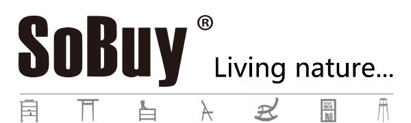 SoBuy® Mesa de Escritorio, Mesa de Ordenador con 2 estantes, Color ...