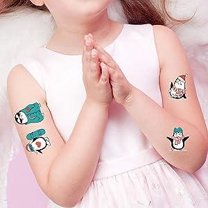 SZSMART Pingüino Tatuajes Temporales Niños Falso Tatuajes Pingüino ...