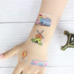 SZSMART Tatuajes Temporales para Niños Niñas, 100pcs Dibujos ...