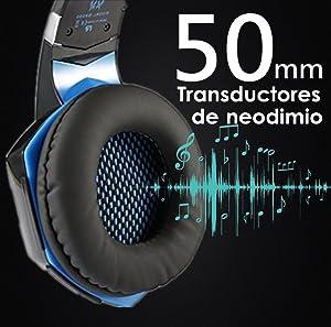 Arkartech Cascos Auriculares Gaming Con Micr 243 Fono Headset