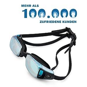 """Gafas de natación Premium """"Torpedo"""" – el kit de entrega completo"""