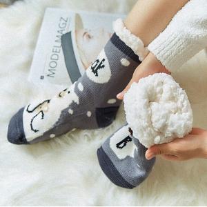 Mujer Calcetines Tipo Pantuflas Con Suela ABS Antideslizante