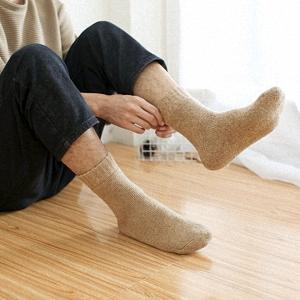 Calcetines de Lana Cálidos de Confort Casual de Hombre de Invierno