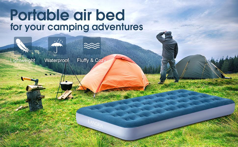 cama hinchable de aire