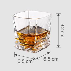 LANGRIA Juego de 4 Vasos de Whisky de Vidrio Incoloro, Estilo ...