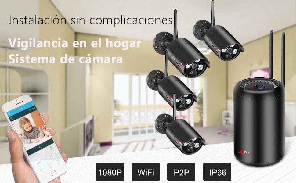 Kit de cámaras de vigilancia WiFi para el hogar y bebés