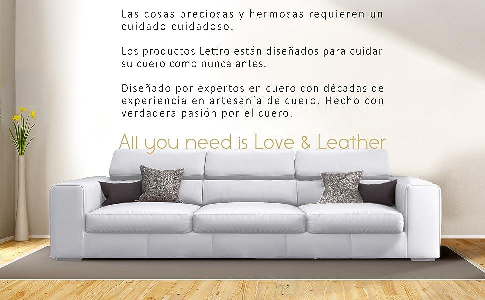 Lettro Bálsamo Reparador – Restaura la Piel y Recupera el Color de Muebles Asientos de Coches Zapatos Tapicería Guarnicionería – 200ml