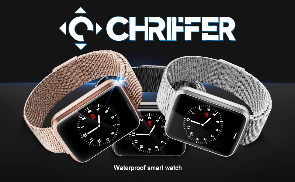 Chriffer Reloj Inteligente Smartwatch IP67 Impermeable Pulsera ...