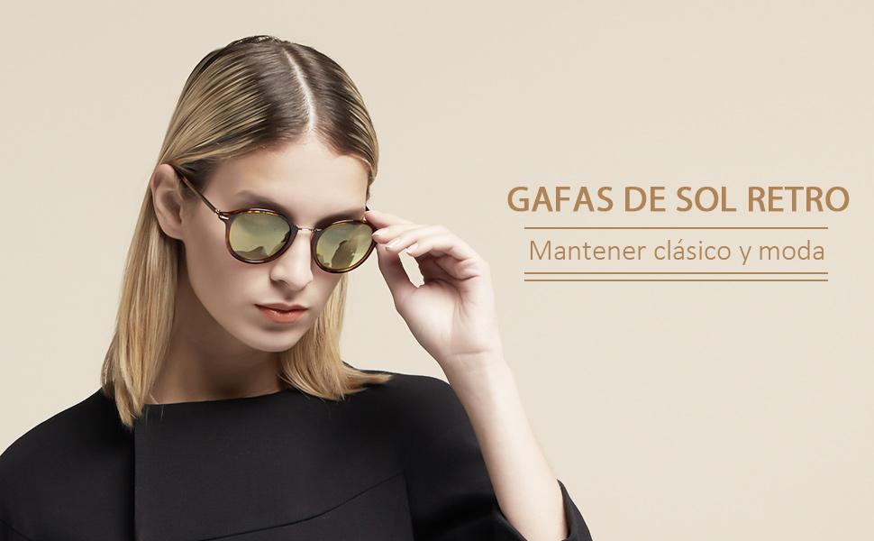 Avoalre Sol De Mujer Gafas Retro Leopardo Vintage fgb7y6