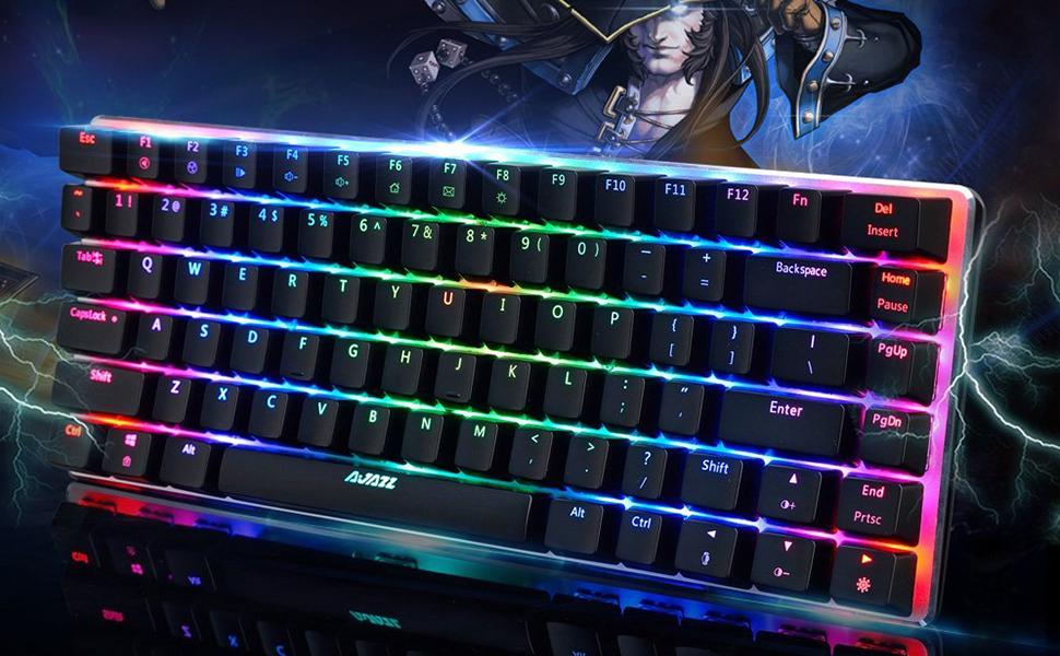 Este teclado de juego mecánico de interruptor azul con respuesta rápida, buena calificación táctil y excelente sensación de teclado, le ofrece una ...