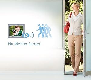 Gracias al sensor Hu-motion (movimiento humano) integrado, no tendrás que preocuparte de encender o apagar tu marco digital.