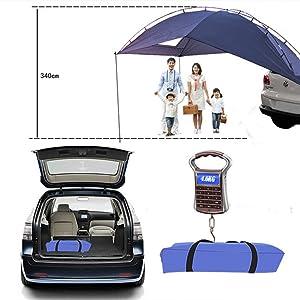 HUKOER Cuenta de auto para acampar Al aire libre Camping Familia de auto Cuenta de auto Cuenta de lado Car Car Hatchback para auto, para camping y ...