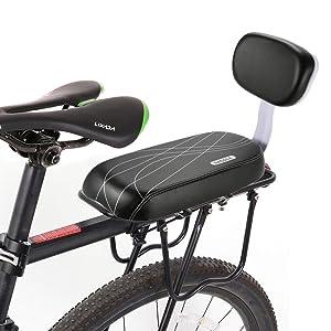 Lixada Asiento Trasero para Bicicleta para Niños. Seguro. Acolchado Suave con Espaldar
