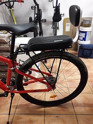 Lixada Asiento Trasero para Bicicleta para Niños. Seguro. Acolchado Suave con Espaldar (Cojín): Amazon.es: Deportes y aire libre