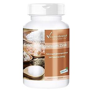 Contiene calcio, magnesio y zinc en forma orgánica, como gluconato