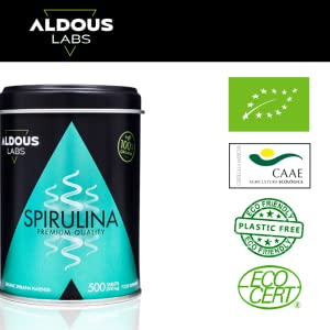 Espirulina mas vendida en Amazon Aldous Labs
