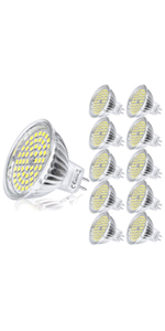 Yafido 6x MR16 LED 12V GU5.3 Bombilla 5W Blanco Calido ...