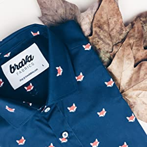 Brava Fabrics Camisa Fox In The Snow - Algodón Orgánico