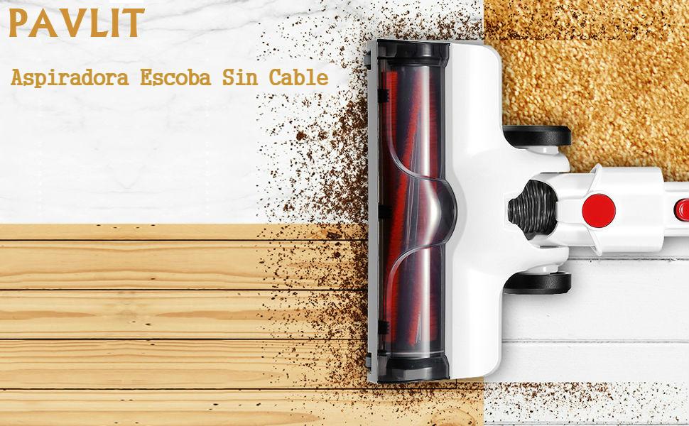 PAVLIT Aspiradora Escoba sin Cable, 2 en 1 Aspiradora de Varilla y ...
