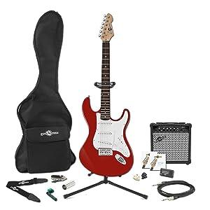 Set Completo de Guitarra Electrica LA + Amplificador de 15 W Roja ...